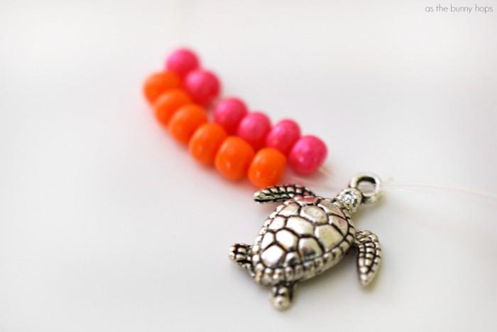 Turtle Charm on Bracelet
