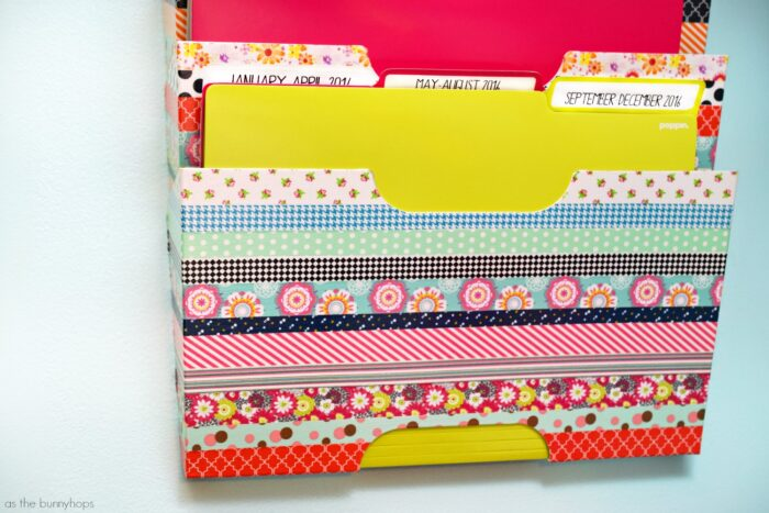 Washi Tape Tax and Bill Station