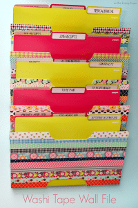 My washi tape tax and bill station can't make paying your bills or taxes more fun, but it can at least give you something cute to look at while you're doing it!