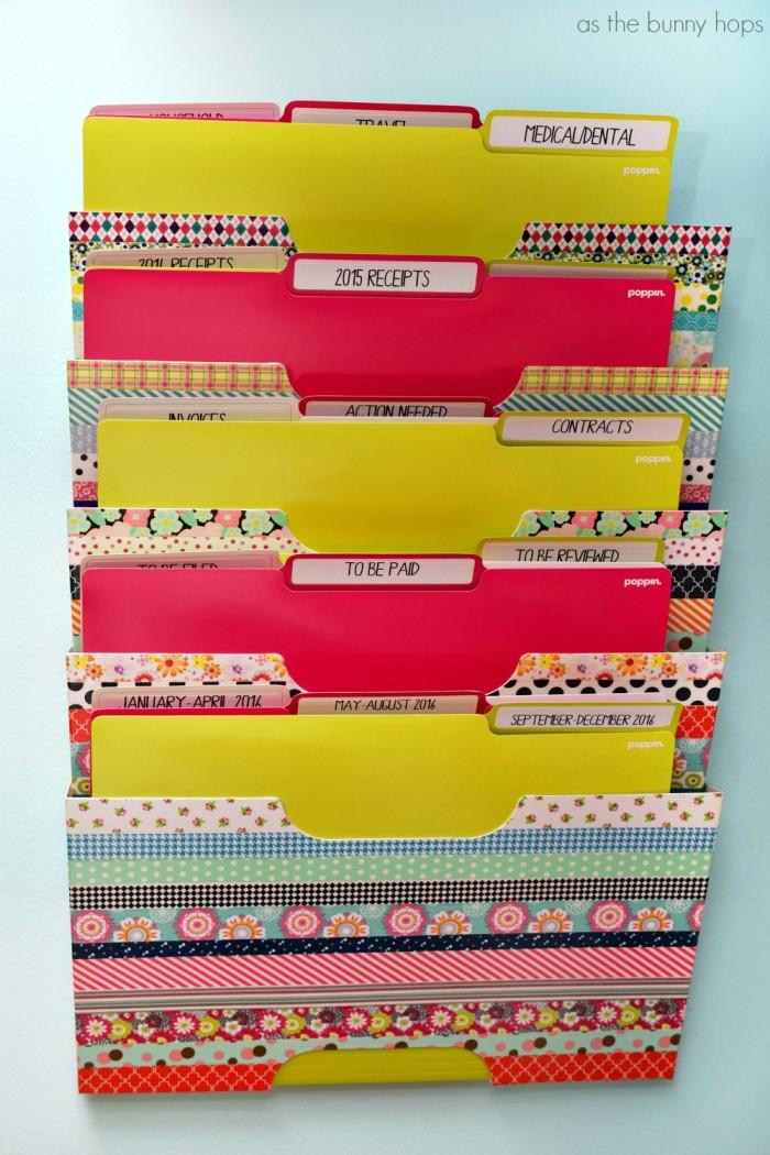 Washi Tape Wall File