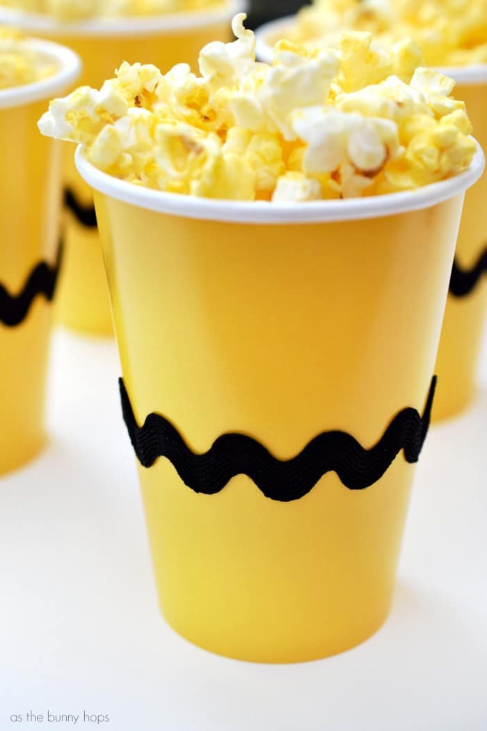 Charlie Brown Snack Cups