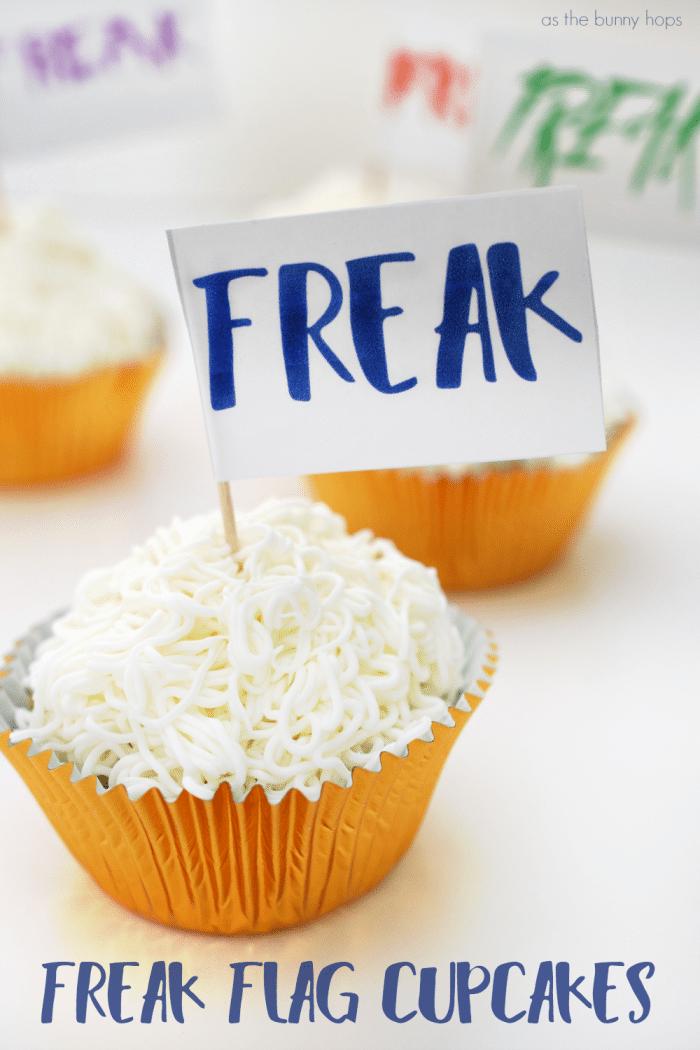 Freak Flag Cupcakes