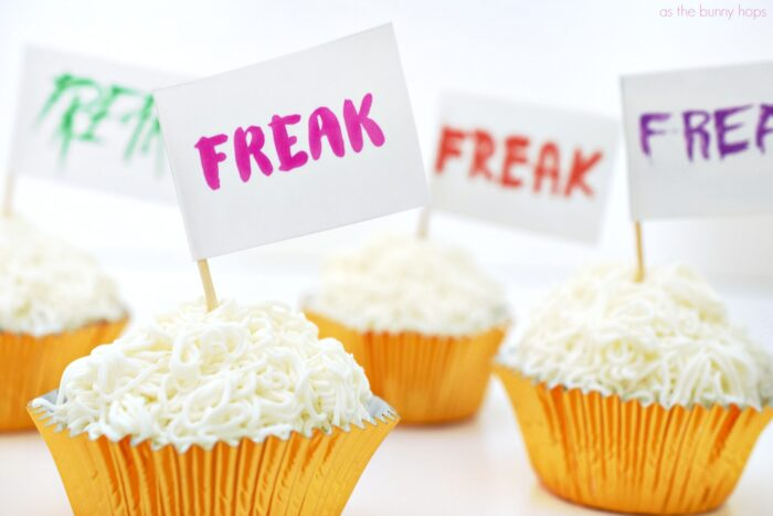 Freak Flag Cupcakes