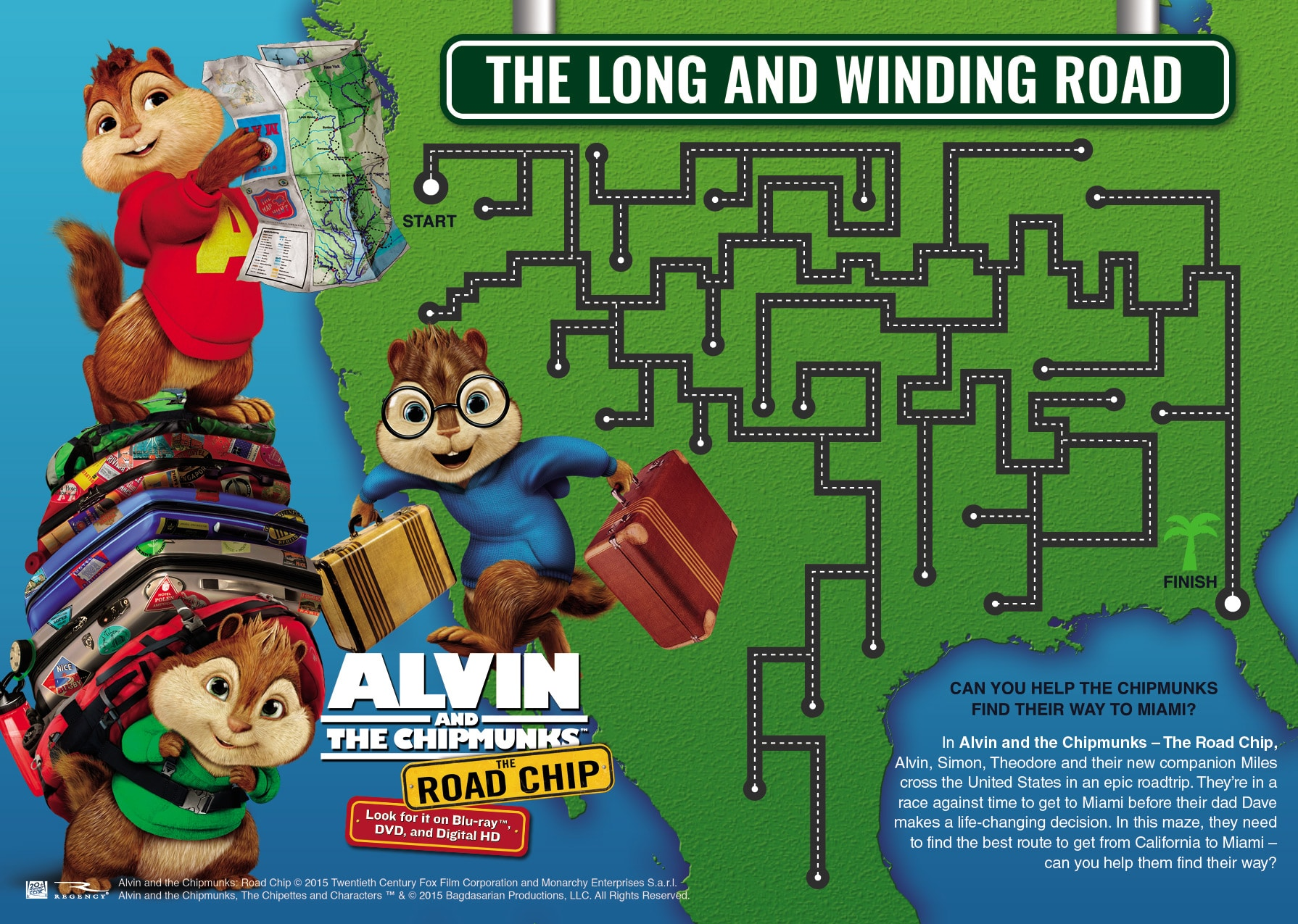 Alvin And The Chipmunks The Road Chip Activity Sheets