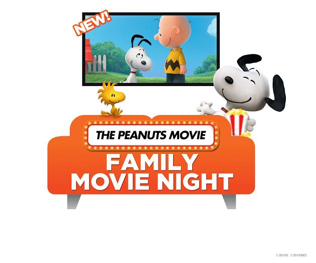 Snoopy Family Movie Night