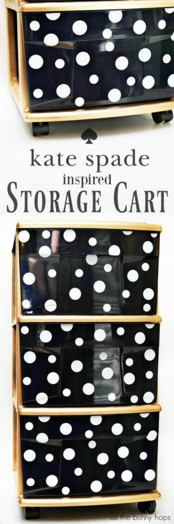 Sure, storage carts are practical-but look what a little paint and a little contact paper can do! Make your own Kate Spade-inspired storage cart in just a few steps!