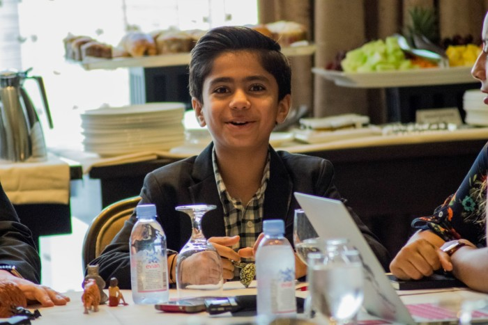 "BEVERLY HILLS - APRIL 04 - Actor Neel Sethi during the ""The Jungle Book"" press junket at the Beverly Hilton on April 4, 2016 in Beverly Hills, California. (Photo by Becky Fry/My Sparkling Life for Disney)"