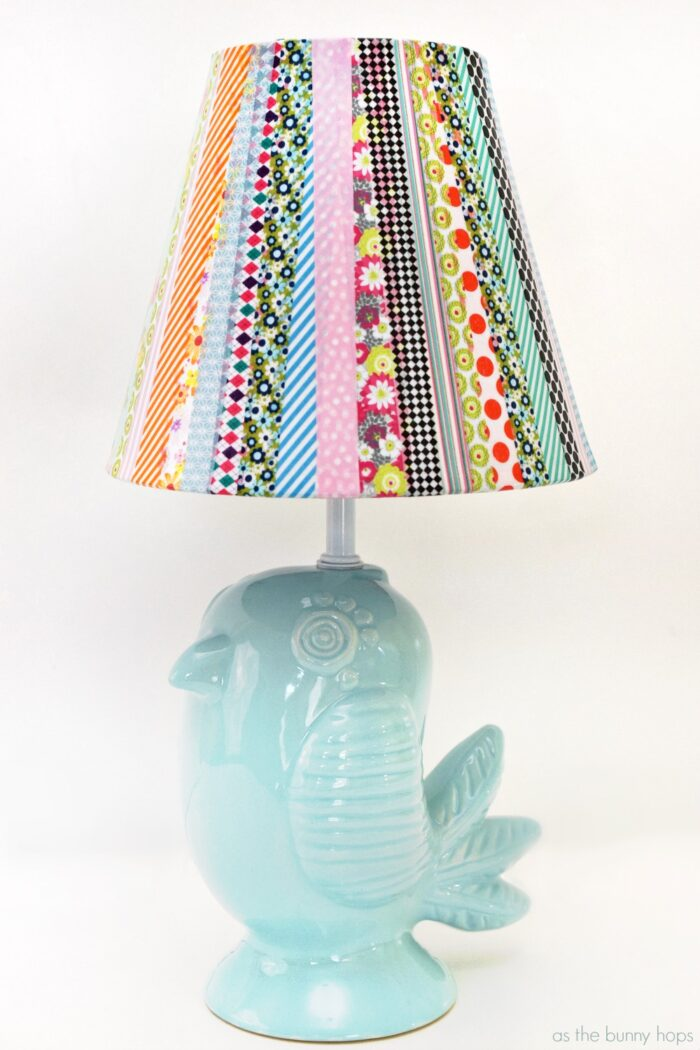 Washi Tape Lampshade Lamp