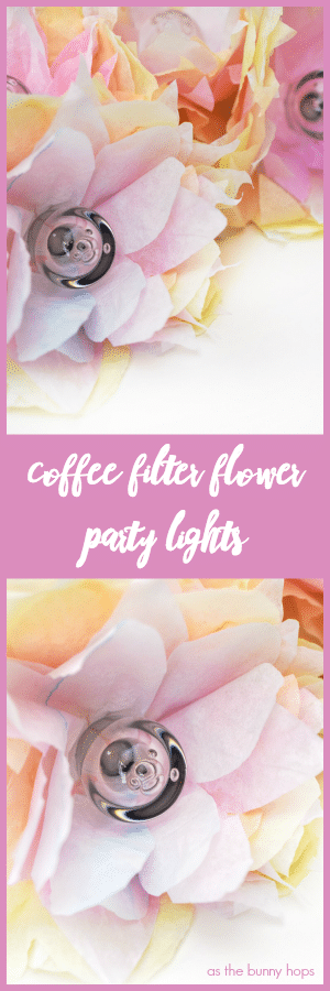 Coffee Filter Flower Party Lights Pin