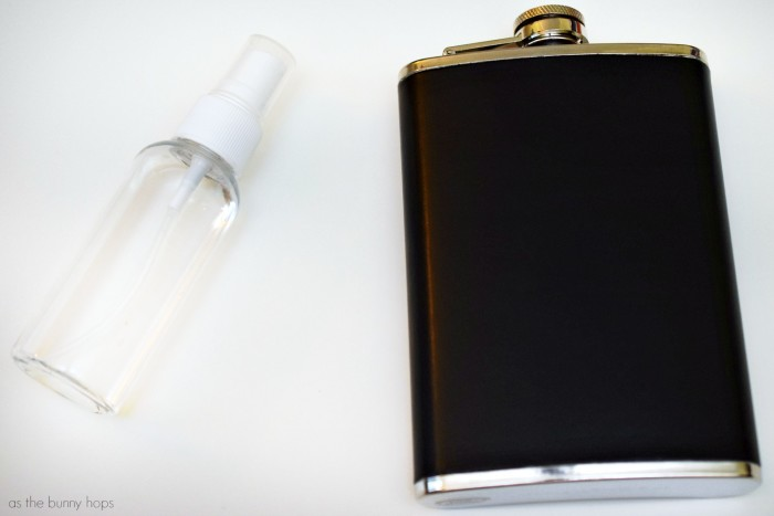Flask and Rubbing Alcohol