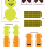 Shrek 3-D Characters