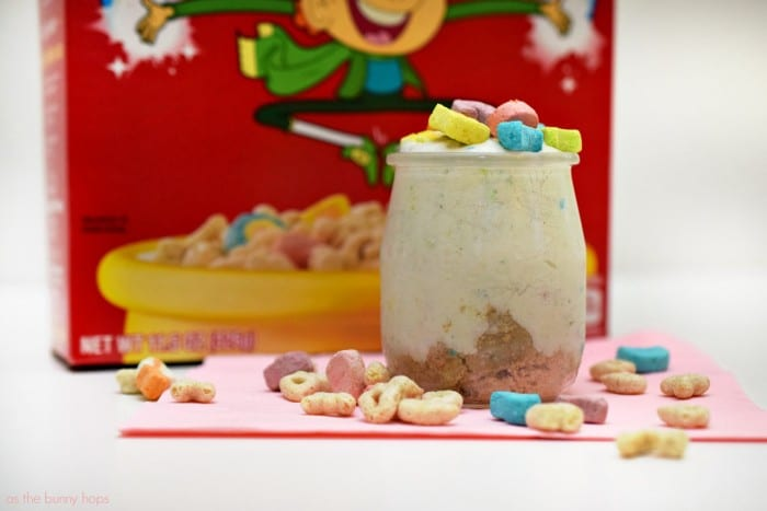 You're in for a sweet treat when you try this easy to make Lucky Charms Cheesecake In A Jar!