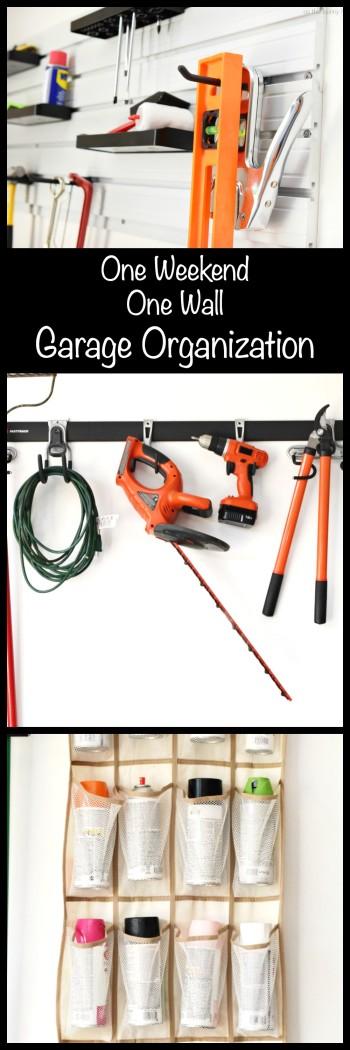 One Weekend One Wall Garage Organization