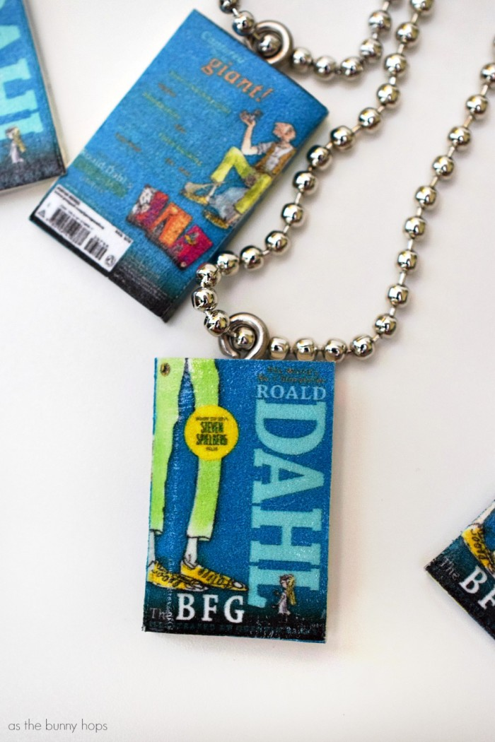 The BFG Mini Book Charms with Ball Chains