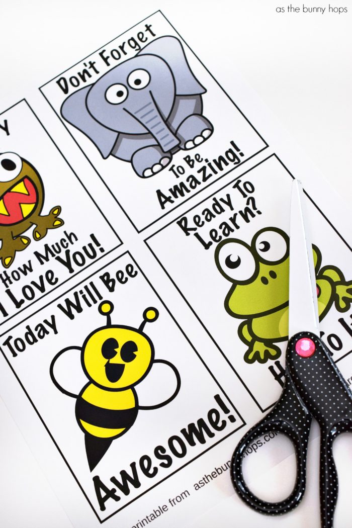 Four Free Printable Lunchbox Notes