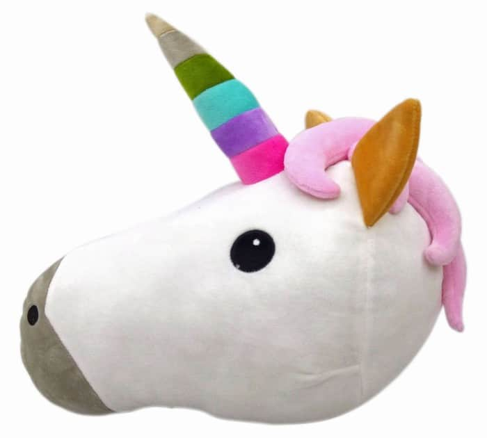 Rainbow Unicorn Emoji Pillow