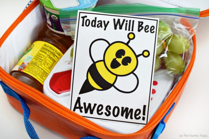 Today will bee awesome! Printable Lunchbox Note