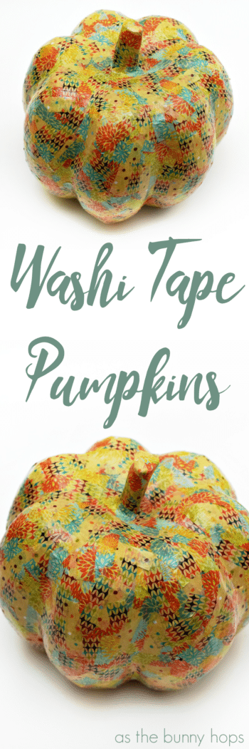 Easy DIY Washi Tape Pumpkins