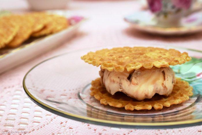 Waffle Cone Ice Cream Sandwiches