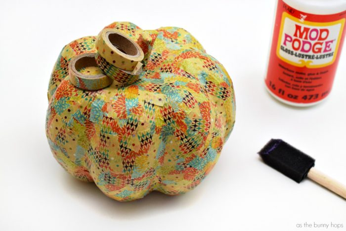 Washi Tape Pumpkin Before Gloss