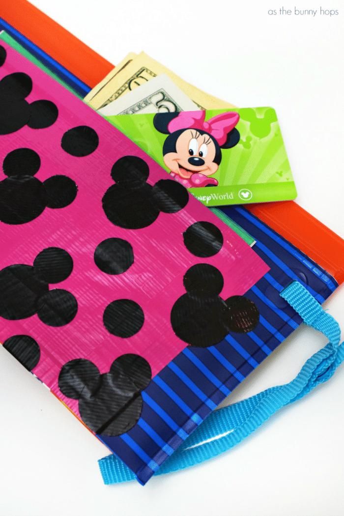 Hidden Mickey Duct Tape Pocket