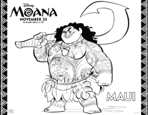 Maui Coloring Page
