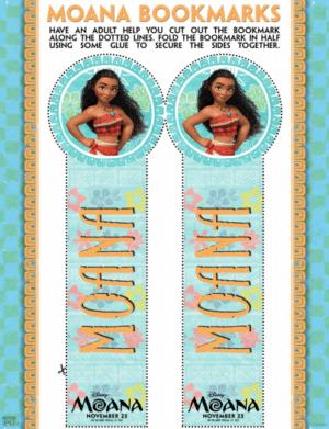 Moana Bookmarks