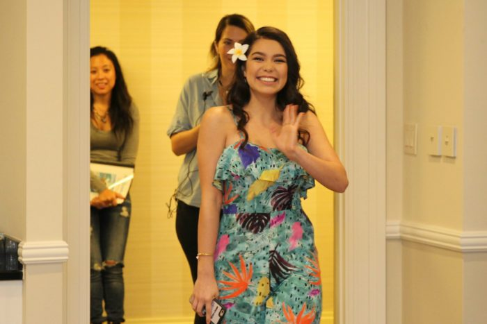 Get a behind the scenes look at the making of Moana from Moana herself, Auli'i Cravalho!