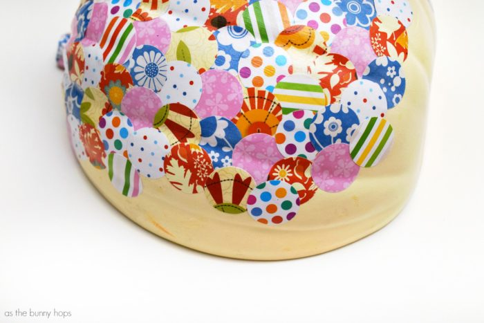 Colorful confetti pumpkins created with scrapbook paper are a fun spin on your Thanksgiving decorations. They're also so easy to make!
