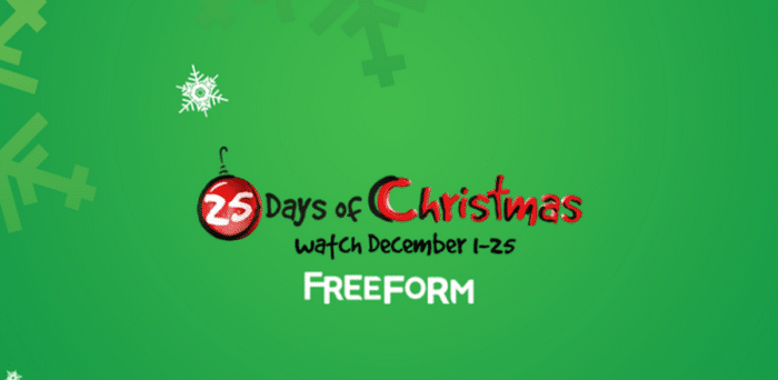 Freeform Christmas Schedule.Freeform S 25 Days Of Christmas 2016 Schedule As The Bunny