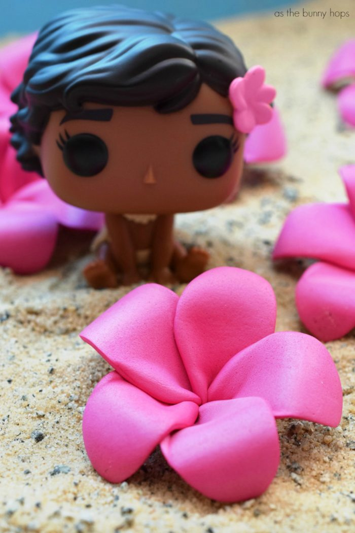 create cute and fun diy pink plumeria hair flowers inspired by disney