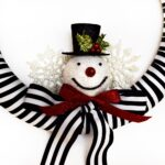 Black and White Snowman Wreath