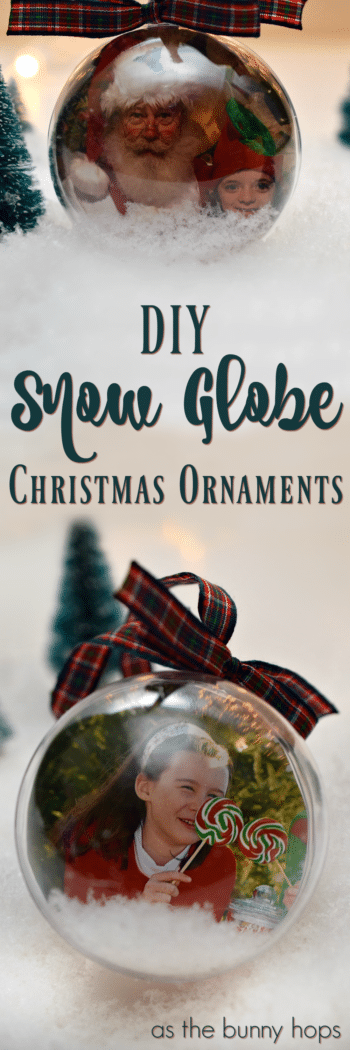 DIY Snow Globe Christmas Ornaments can be made in minutes. They're a perfect, personalized gift when you don't have a lot of time to craft!