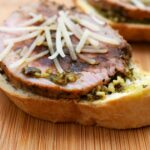 Garlic and Herb Pork Crostini