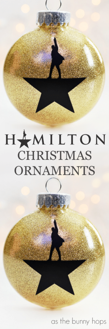DIY Hamilton Christmas Ornaments