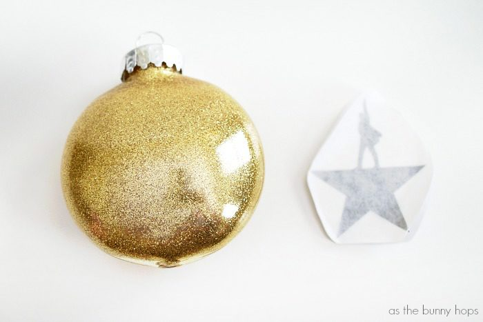 Make and easy, glittery and fun DIY Hamilton Christmas Ornaments!