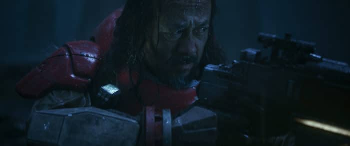 Rogue One: A Star Wars Story..Baze Malbus (Jiang Wen)..Ph: Film Frame ILM/Lucasfilm..©2016 Lucasfilm Ltd. All Rights Reserved.