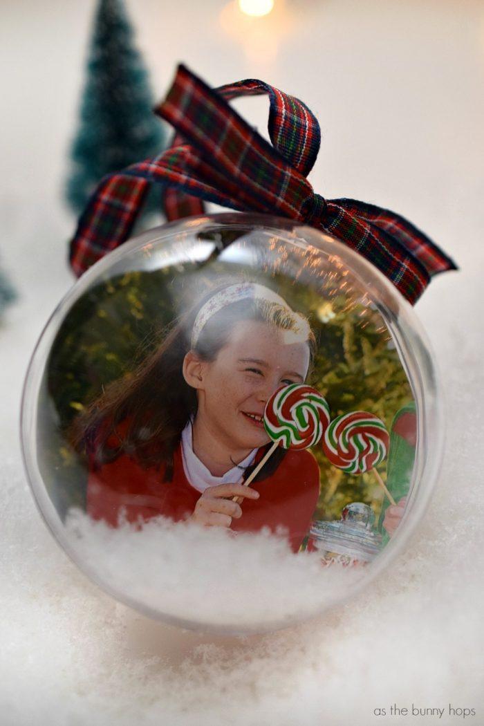 Diy Snow Globe Christmas Ornaments As The Bunny Hops 174