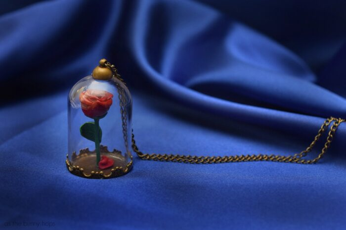 Beauty and the Beast Enchanted Rose Pendant