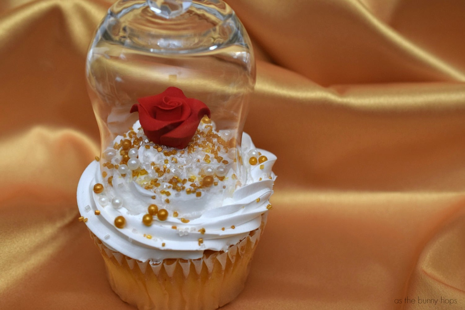 Beauty and the Beast Inspired Enchanted Rose Cupcakes As The Bunny