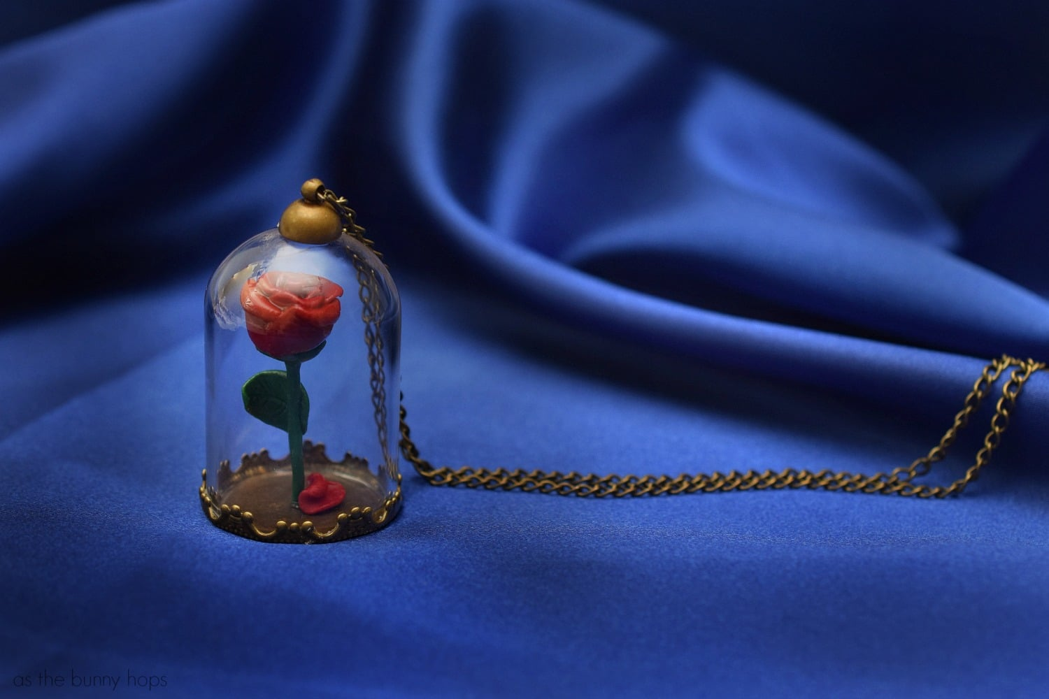 Beauty And The Beast Enchanted Rose Pendant As The Bunny