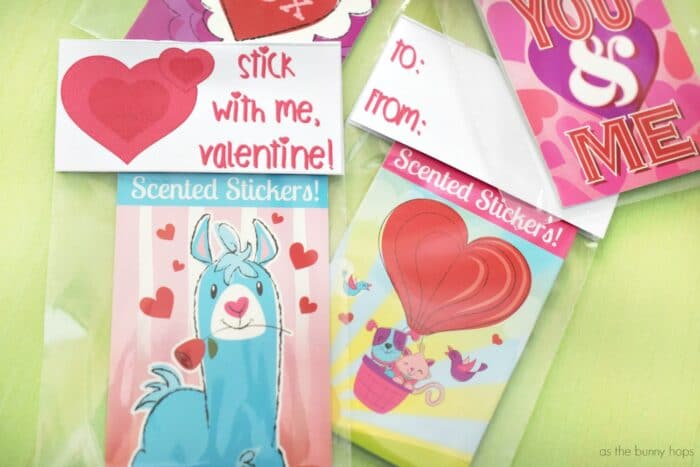 Classroom Valentines: Stick With Me Printable