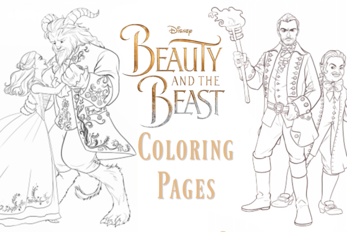Beauty and the Beast: Coloring Pages and New Clips