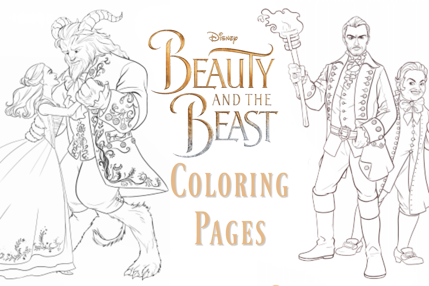 Beauty And The Beast Coloring Pages New Clips