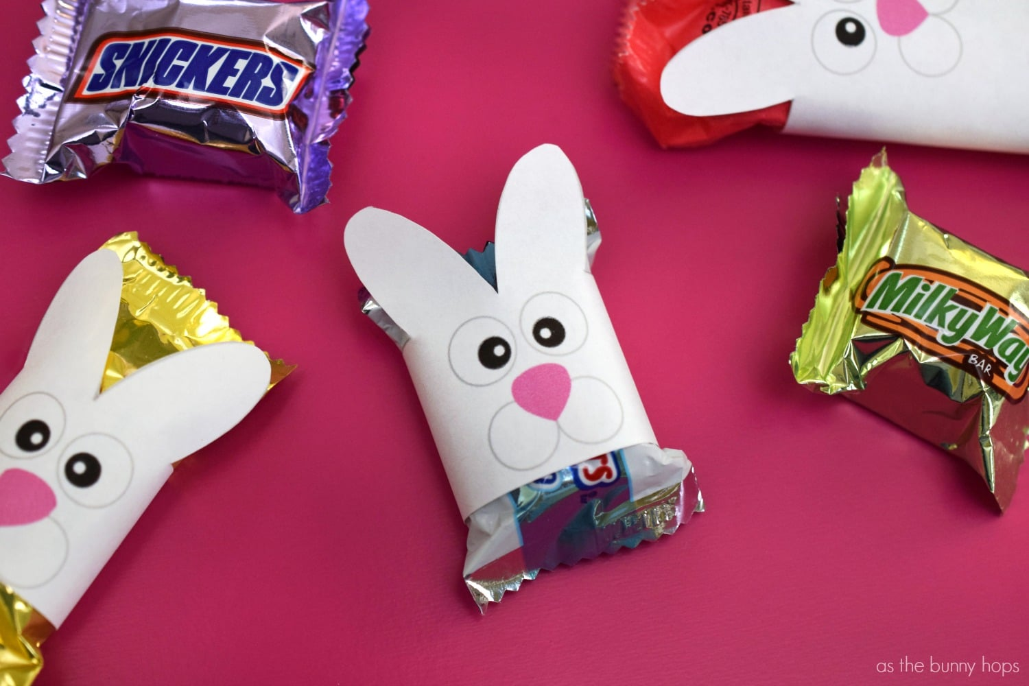 Printable Easter Bunny Candy Wrappers As The Bunny Hops 174