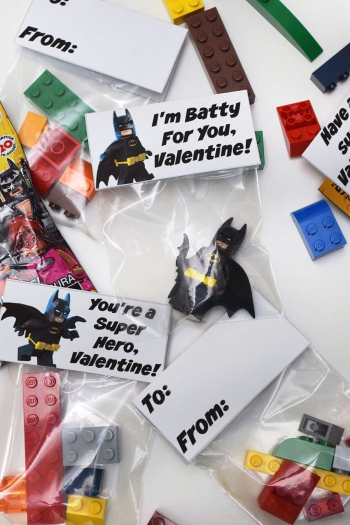 Even with Valentine's Day just around the corner, there's still time to make DIY classroom gifts with these printables! Includes Lego Batman, Disney Princess, rubber ducky and sticker ideas!
