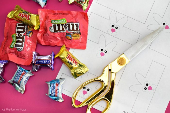 Bunny up your Easter treats with this printable Easter Bunny Candy Wrapper!