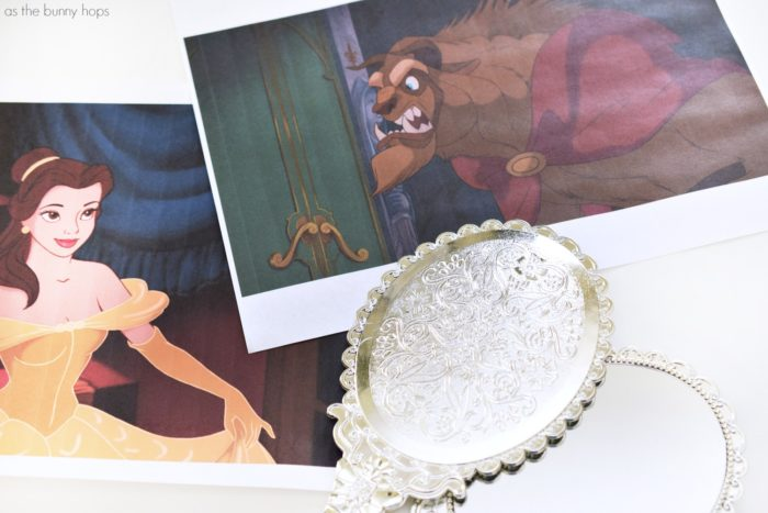 Make playtime a little more enchanting with an easy Beauty and the Beast-inspired Magic Mirror!
