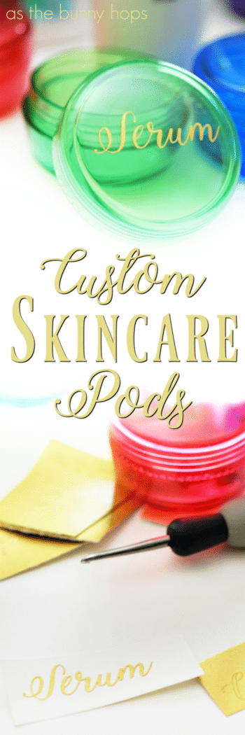 Pack all of your skincare favorites for your next trip with these cute and custom skincare travel pods!