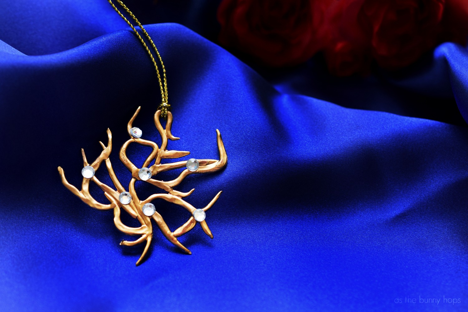Beauty And The Beast Inspired Rosetree Necklace As The